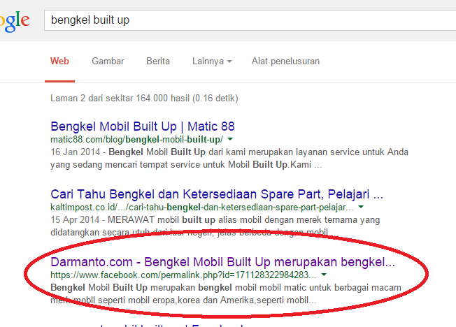 Cara Share Artikel Blog ke Facebook Terindeks Google